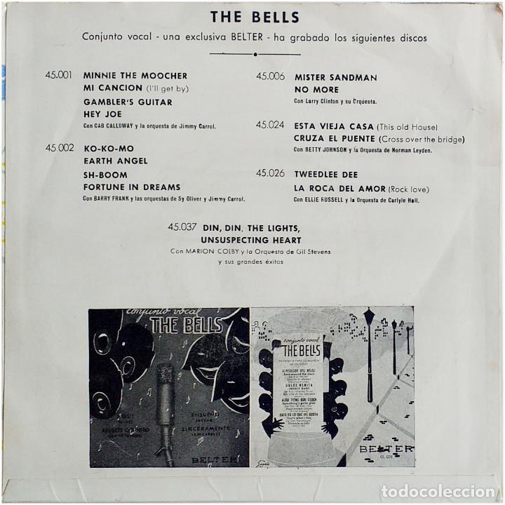 Discos de vinilo: The Bells / Jimmy Carrol Orquesta (Four Bells) - Ep Spain 1956 - Belter 45.028 - Sagalés - Foto 2 - 236826235