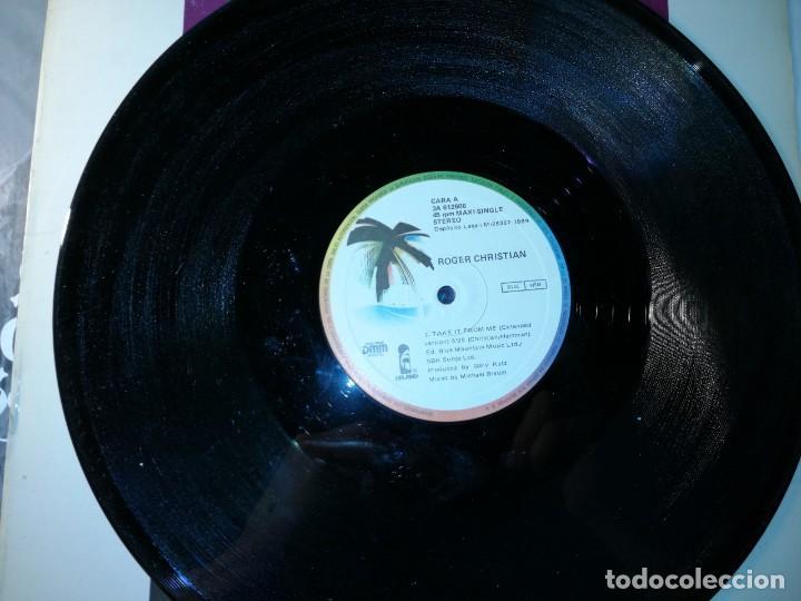 Discos de vinilo: Lote 2 disco SYNTH-POP. OTRAS LUNAS – LAS NOCHES D.S.O. y ROGER CHRISTIAN – TAKE IT FROM ME - Foto 2 - 236834300