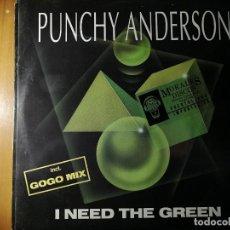 """Discos de vinilo: LOTE 2 DISCO RAP/HIP HOP. PUNCHY ANDERSON """"I NEED THE GREEN"""" Y BREAKOUT, CASA NERO""""THE DAWN"""". Lote 236836865"""