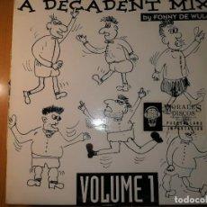 Discos de vinilo: LOTE 2 DISCO TECHNO. REPLAY – FOTONOVELA Y FONNY DE WULF – A DECADENT MIX VOLUME 1. Lote 236837250