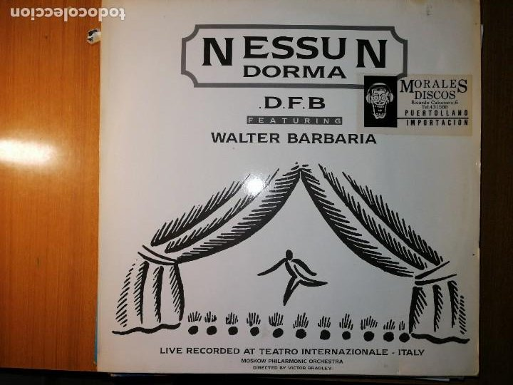 LOTE 2 DISCO ITALO DANCE. VINEGAR–GET BUSY Y D.F.B.* FEATURING WALTER BARBARIA –NESSUN DORMA (Música - Discos de Vinilo - Maxi Singles - Pop - Rock Internacional de los 90 a la actualidad)