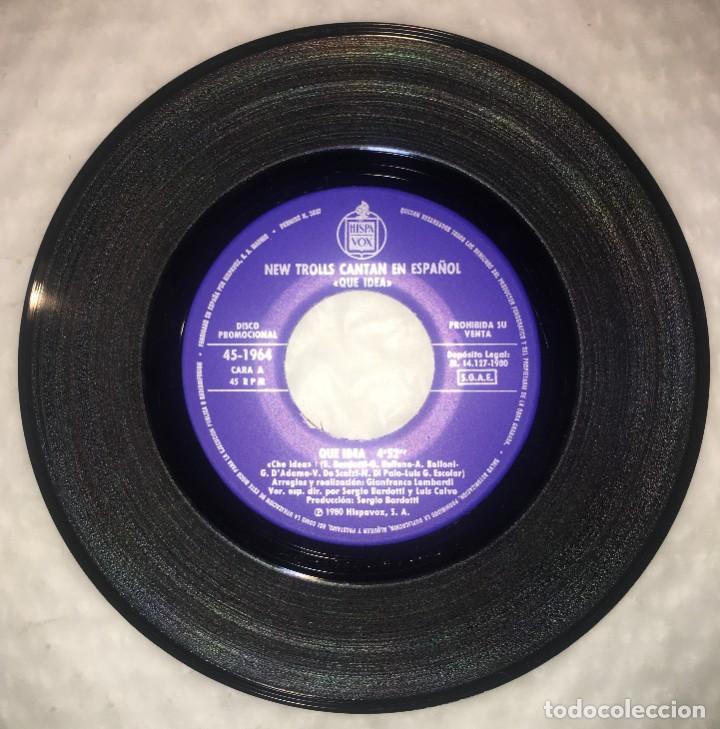 Discos de vinilo: SINGLE NEW TROLLS EN ESPAÑOL - QUE IDEA - ACCENDI LA TUA LUCE - HISPAVOX 45-1964 - PEDIDOS MINIMO 7€ - Foto 4 - 236838830