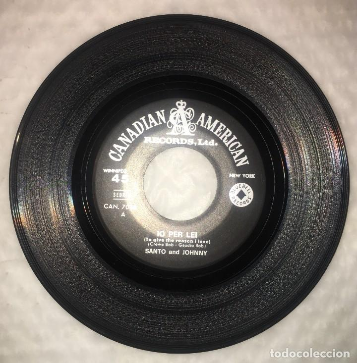 Discos de vinilo: SINGLE SANTO & JOHNNY - IO PER LEI - OUT OF MY HEAD - CANADIAN AMERICAN CAN7038 - PEDIDOS MINIMO 7€ - Foto 4 - 236839890