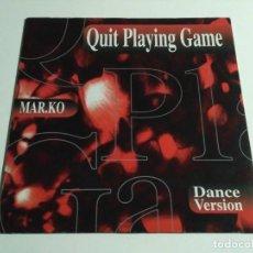 "Discos de vinilo: MAR.KO - QUIT PLAYING GAME (12"", MAXI). Lote 236840145"