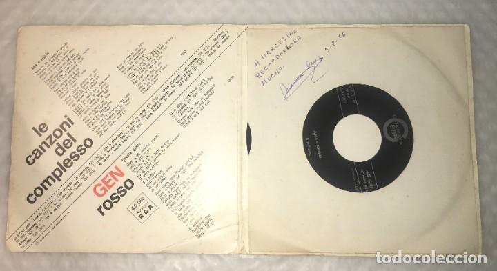 Discos de vinilo: SINGLE COMPLESSO GEN ROSSO - QUESTA GENTE - AMA E CAPIRAI - PEDIDOS MINIMO 7€ - Foto 3 - 236840435