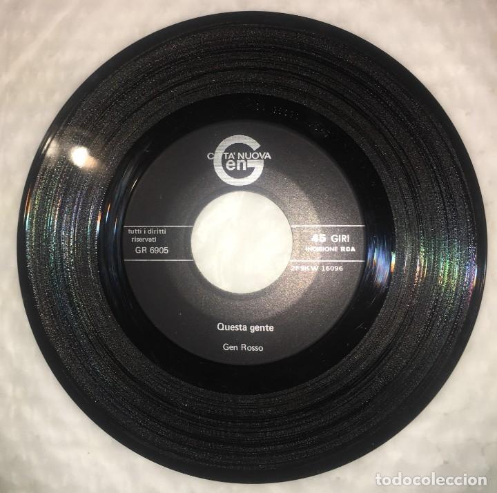 Discos de vinilo: SINGLE COMPLESSO GEN ROSSO - QUESTA GENTE - AMA E CAPIRAI - PEDIDOS MINIMO 7€ - Foto 5 - 236840435