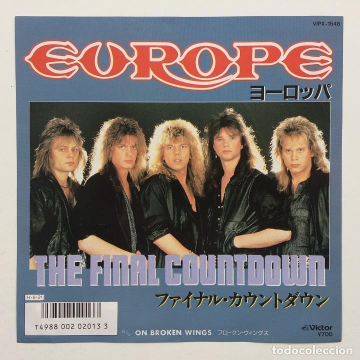 EUROPE – THE FINAL COUNTDOWN / ON BROKEN WINGS JAPAN,1986 (Música - Discos - Singles Vinilo - Heavy - Metal)