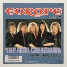 Discos de vinilo: EUROPE ‎– THE FINAL COUNTDOWN / ON BROKEN WINGS JAPAN,1986. Lote 236841935