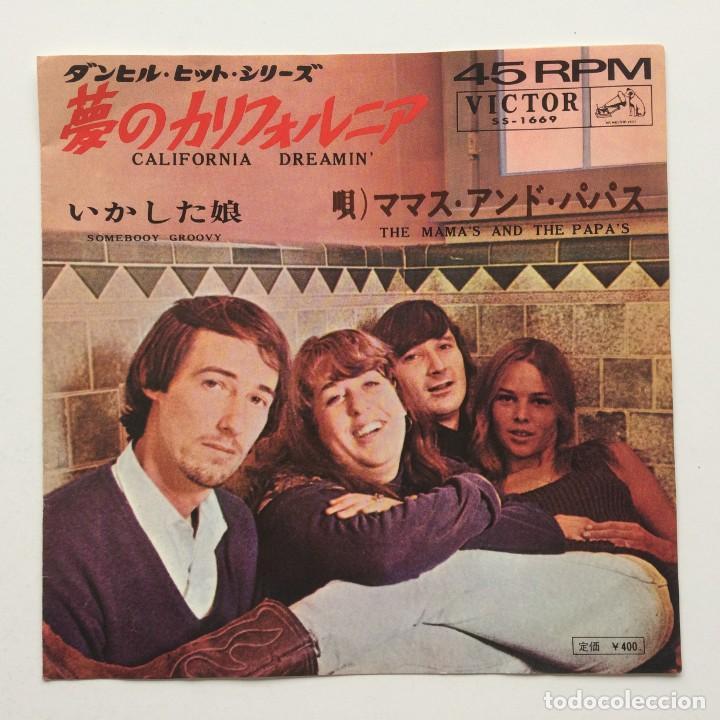 THE MAMAS & THE PAPAS - CALIFORNIA DREAMIN' / SOMEBODY GROOVY JAPAN,1965 (Música - Discos - Singles Vinilo - Pop - Rock Extranjero de los 50 y 60)