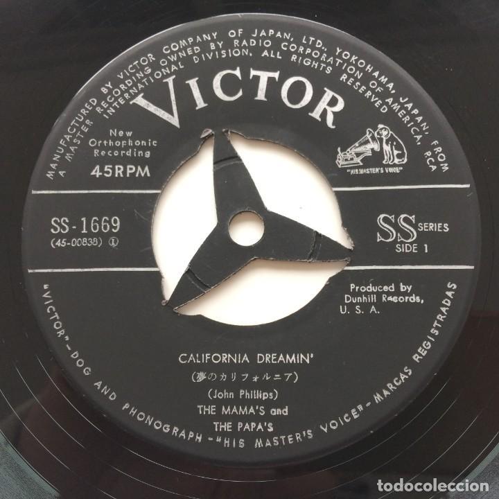 Discos de vinilo: The Mamas & The Papas - California Dreamin / Somebody Groovy Japan,1965 - Foto 5 - 236844140