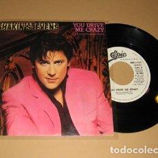 Discos de vinilo: SHAKIN' STEVENS - TU ME VUELVES LOCO (YOU DRIVE ME CRAZY) - PROMO SINGLE - 1981. Lote 236845145