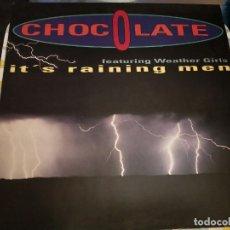 "Discos de vinilo: CHOCOLATE FEATURING WEATHER GIRLS* - IT'S RAINING MEN (12"") ULTRAPHONIC, 4509-93296 0.MINT/NEAR MINT. Lote 236847145"