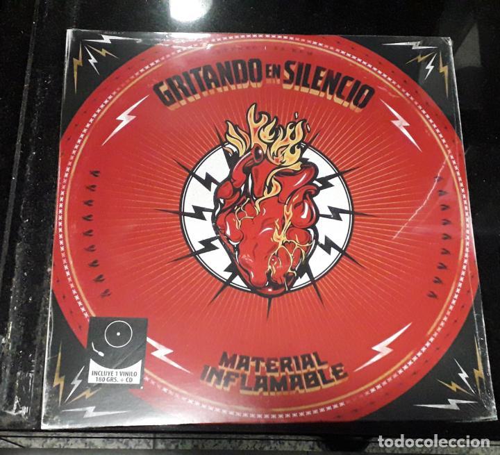 MUSICA LP GRITANDO EN SILENCIO MATERIAL INFLAMABLE PRECINTADO INCLUYE CD (Música - Discos - LP Vinilo - Grupos Españoles de los 90 a la actualidad)