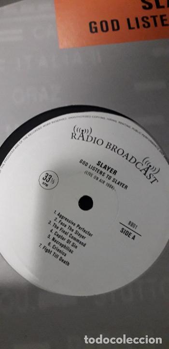 Discos de vinilo: musica lp heavy slayer god listens to slayer conciertos radio live on air 1984 - Foto 2 - 236861765