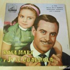 Discos de vinilo: ROSA MARY Y JOSE GUARDIOLA, EP, DI PAPA + 3, AÑO 1962. Lote 236869175