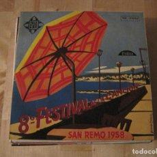 Discos de vinilo: EP SAN REMO 1958 TELEFUNKEN 51043. Lote 236870080