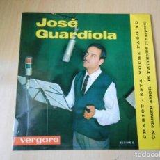 Discos de vinilo: JOSE GUARDIOLA, EP, CHARIOT + 3, AÑO 1963. Lote 236870770