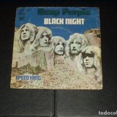 Discos de vinilo: DEEP PURPLE SINGLE BALCK NIGHT. Lote 236872045