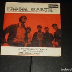 Discos de vinilo: PROCOL HARUM SINGLE A WHITER SHADE OF PALE. Lote 236875295