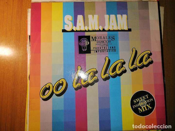 Discos de vinilo: Lote 2 disco House. S.A.M. JAM - OO LA LA LA – 1990 y AGE PEE – ERDBEER ICE - Foto 3 - 236877030