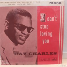 Discos de vinilo: RAY CHARLES–I CAN'T STOP LOVING YOU . EP EDICIÓN UK 1963. BUEN ESTADO. Lote 236879565