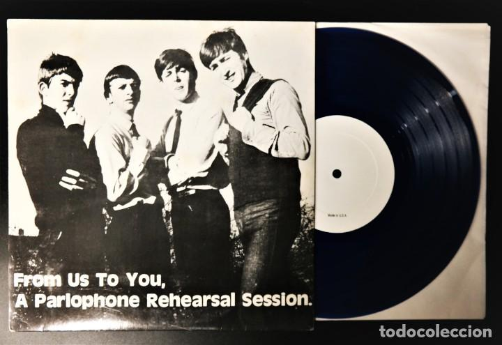Discos de vinilo: The Beatles – From Us To You, A Parlophone Rehearsal Session / In Limited Blue Vinyl - Foto 3 - 236880180
