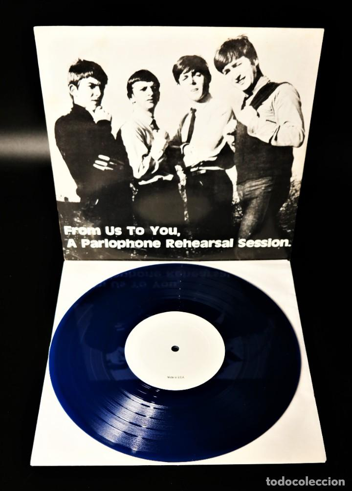 Discos de vinilo: The Beatles – From Us To You, A Parlophone Rehearsal Session / In Limited Blue Vinyl - Foto 7 - 236880180