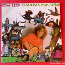Discos de vinilo: DISCO EP ROSA LEON CANCIONES PARA NIÑOS. Lote 236881560