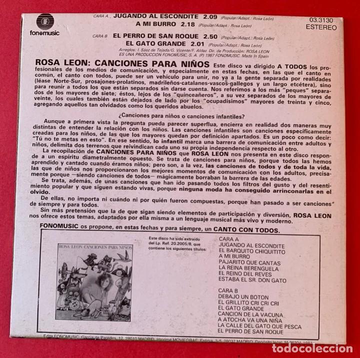 Discos de vinilo: Disco EP Rosa Leon Canciones para niños - Foto 2 - 236881560