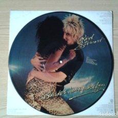 Discos de vinilo: ROD STEWART - BLONDES HAVE MORE FUN - LP PICTURE DISC WARNER BROS 1978 ED. AMERICANA BSP 3276 MUY BU. Lote 236888810