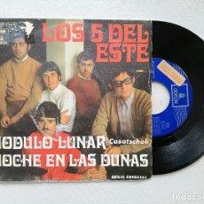 Discos de vinilo: 5 DEL ESTE, LOS - MODULO LUNAR CASATSCHOK (EMI) SINGLE. Lote 236894770