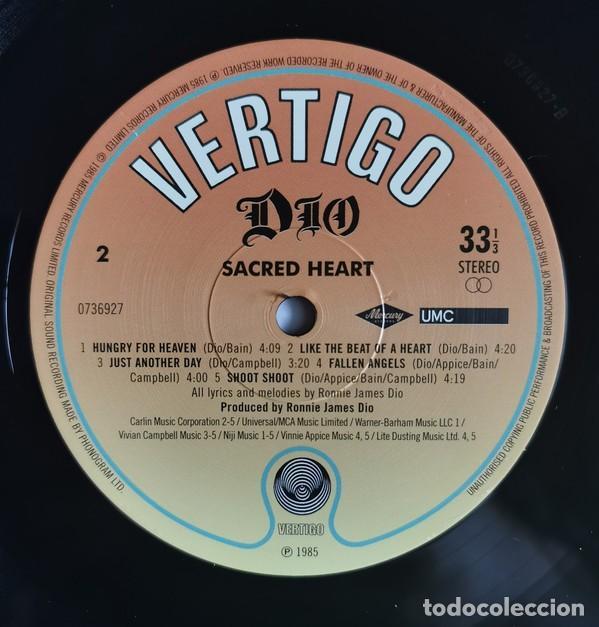 Discos de vinilo: Dio – Sacred Heart lp - Foto 5 - 236897245