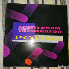 Discos de vinilo: LOTE 2 DISCO HARDCORE. AMSTERDAM TERMINATOR-POING Y LE DORMEUR,THE REMIXES-THE END OF STORY MIX. Lote 236901330