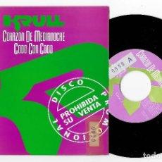 "Discos de vinilo: KRULL 7"" SPAIN 45 CORAZON DE MEDIANOCHE 1991 SINGLE VINILO HARD ROCK & ROLL HEAVY PROMO BUEN ESTADO. Lote 236901605"
