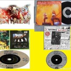 Discos de vinilo: IRON MAIDEN - LOTE 3 X SINGLES 7 / 45 VINYL SINGLE, ORG EDT UK, HEAVY COLLECTORS !! TODO EXC !!. Lote 193850113