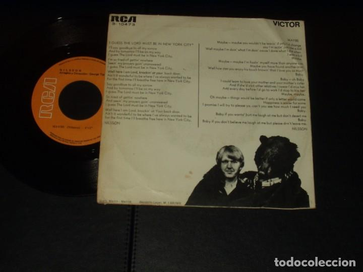 Discos de vinilo: NILSSON SINGLE I GUESS THE LORD MUST BE IN NEW YORK CITY - Foto 2 - 236922560