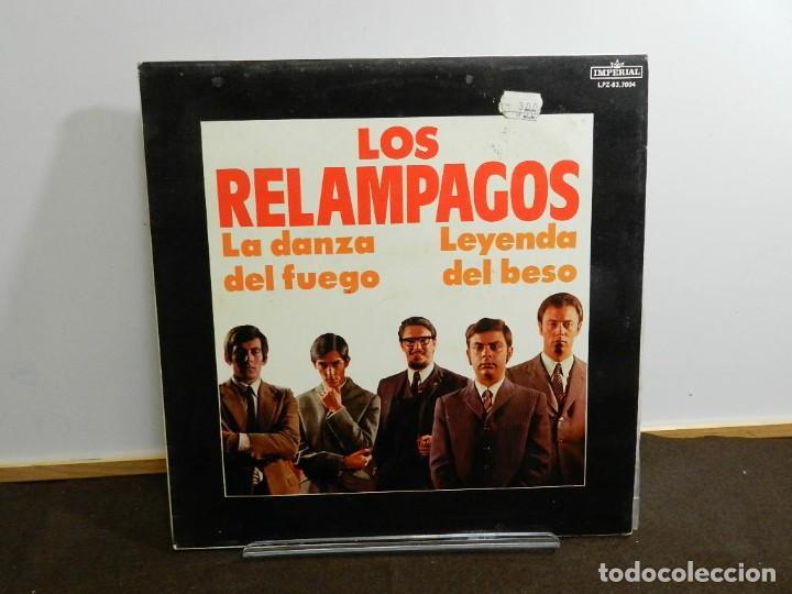 DISCO VINILO LP. LOS RELAMPAGOS – LA DANZA DEL FUEGO, LEYENDA DEL BESO. 33 RPM. (Música - Discos - LP Vinilo - Grupos Españoles 50 y 60)