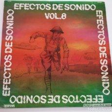 """Discos de vinilo: EFECTOS DE SONIDO VOL. 8 LP RECOPILATORIO 1982 12"""" VINILO VINYL BATALLA GUERRA. Lote 236944705"""