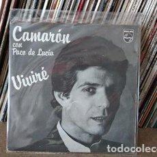 Discos de vinilo: CAMARON, VIVIRE + MAR AMARGO (PHILIPS) SINGLE - PACO DE LUCIA. Lote 236947225