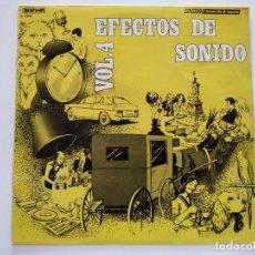 """Discos de vinilo: EFECTOS DE SONIDO VOL. 4 LP RECOPILATORIO 1981 12"""" VINILO VINYL COCHES GATO CAMPANAS GRITOS TRÁFICO. Lote 236953540"""