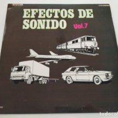 """Discos de vinilo: EFECTOS DE SONIDO VOL. 7 LP RECOPILATORIO 1982 12"""" VINILO VINYL COCHE TREN AVIÓN CAMIÓN TORMENTA. Lote 236954935"""