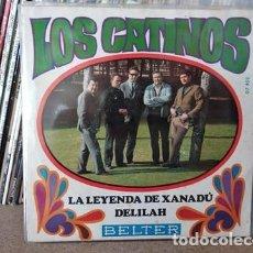 Discos de vinilo: LOS CATINOS - DELILAH / LA LEYENDA DE XANADÚ - SINGLE BELTER 1968. Lote 236957855