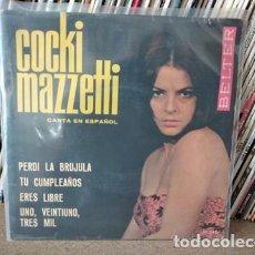 Discos de vinilo: COCKI MAZZETTI. PERDI LA BRUJULA +3. BELTER 1965. Lote 236964970