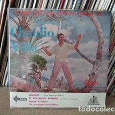 Discos de vinilo: CLAUDIO VILLA - 1ER FESTIVAL DE LA CANCION MEDITERRANEA - BINARIO + 3 ED. ESPAÑOLA - CETRA 1959. Lote 236965890