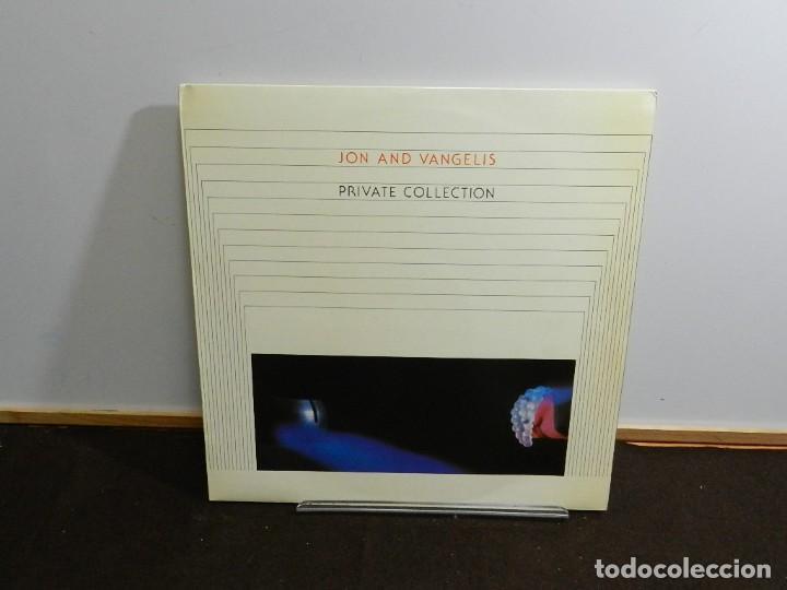 DISCO VINILO LP. JON AND VANGELIS – PRIVATE COLLECTION. 33 RPM. (Música - Discos - LP Vinilo - Electrónica, Avantgarde y Experimental)