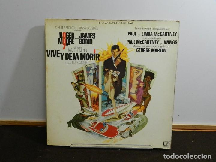 DISCO VINILO LP. VARIOS – VIVE Y DEJA MORIR (BANDA SONORA ORIGINAL) JAMES BOND 007. 33 RPM. (Música - Discos - LP Vinilo - Bandas Sonoras y Música de Actores )