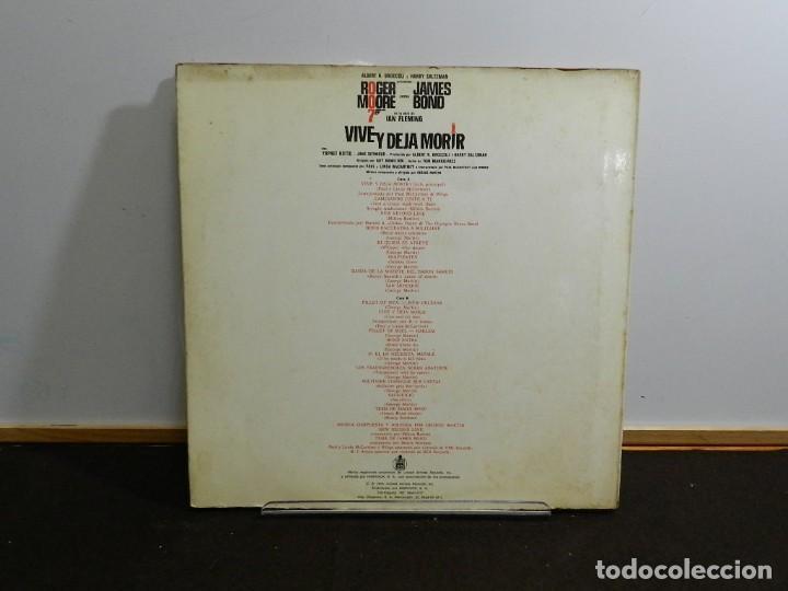 Discos de vinilo: DISCO VINILO LP. Varios – Vive Y Deja Morir (Banda Sonora Original) James Bond 007. 33 RPM. - Foto 2 - 236976330
