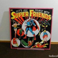 Discos de vinilo: DISCO VINILO LP. SUPERFRIENDS – LET'S ALL DANCE WITH SUPERFRIENDS. 33 RPM.. Lote 236983470