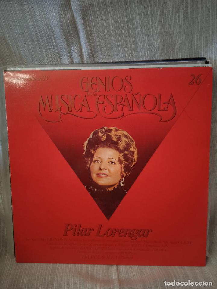 PILAR LORENGAR,GENIOS DE LA MUSICA ESPAÑOLA VOL 26 (Música - Discos - LP Vinilo - Solistas Españoles de los 50 y 60)