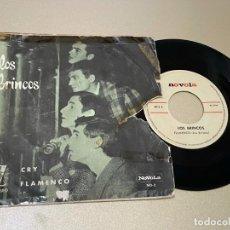 Discos de vinilo: SINGLE LOS BRINCOS FLAMENCO CRY. Lote 236990145